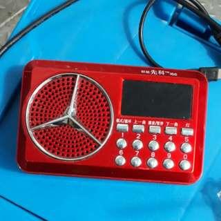 🚚 先科插卡式老人收音機音響 超大音量 攜帶方無 瑕疵 保持良好