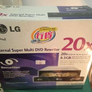LG DVD IDE internal reader/writer 20x (包 IDE 線)