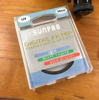 Uv filter 58mm Sunpro