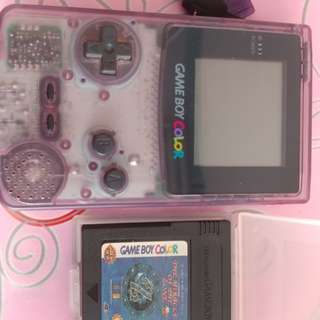 賣game boy color 紫色連18隻game (有召喚王,比卡超等)