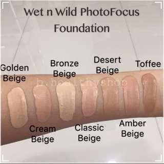 Wet n Wild Photo Focus Foundation ( Golden Biege )