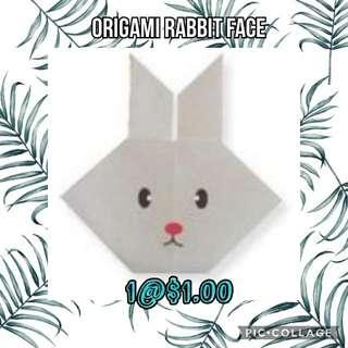 Origami Rabbit Face