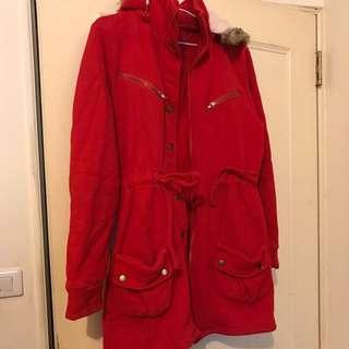 🚚 紅色刷毛外套 #舊愛換新歡