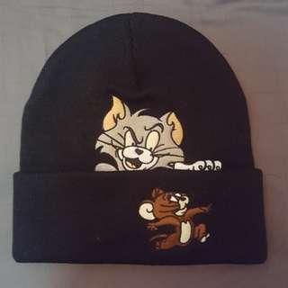 (100%新)貓和老鼠冷帽【黑】