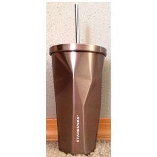Starbucks stainless steel rose gold cup