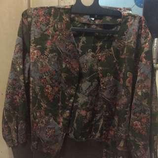 jacket army stradivarius