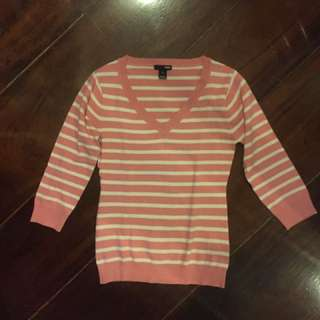 Stripped pink sweater