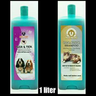 Shampoo anti kutu anjing kucing nice coat 1ltr