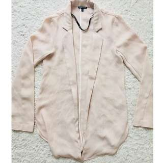 Warehouse Light Pink Trench Cardi