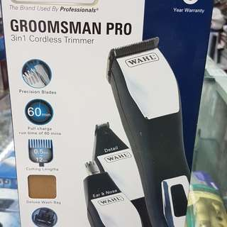 WAHL GROOMSMAN PRO 3 IN 1 CORDLESS TRIMMER