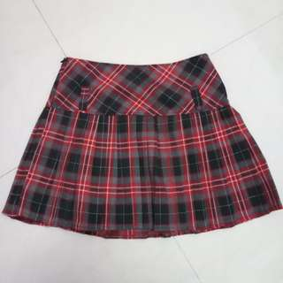 Plaid Checkered Skirt