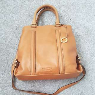 Oroton leather tan tote bag