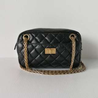 Chanel Reissue Camera Bag Black Aged Calf