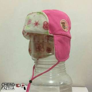 TB infant hat with earflap topi budak baby