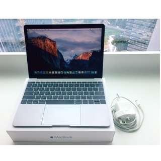 "Apple Macbook 12"" Grey, 256 GB, 8 GB RAM, late 2016 (seperti baru)"