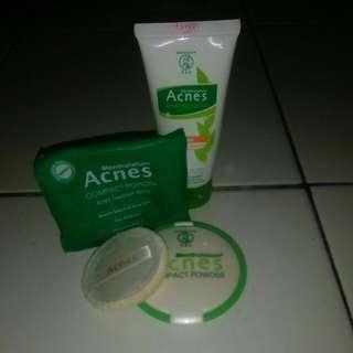 Acnes compact powder + acnes cream gel
