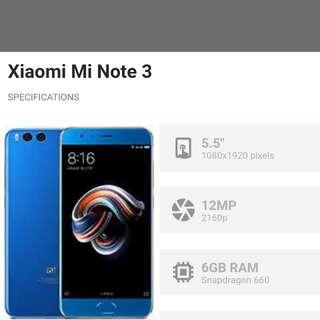 Xiaomi mi note 3 openline matte black