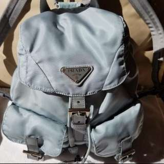 Prada light blue backpack 淺藍色書包背包背囊
