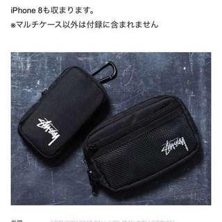 日本直送Stussy雜誌小扣包(可勾上皮帶)+(無帶小橫袋)男款套組