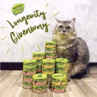 Instagram Nurture Pro Longevity cat canned food Giveaway