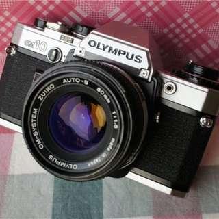底片 單眼相機 Olympus om 10 50mm f1.8 含前蓋