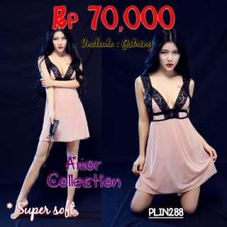 Lingerie seksi dress super soft (PLIN288) By AMORCOLLECTION