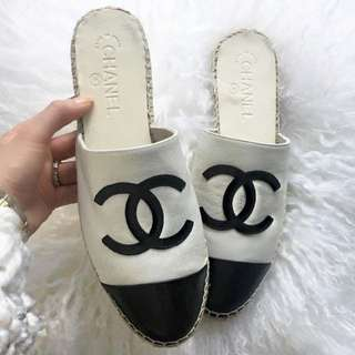 *Rare* 2018 Chanel backless Espadrilles 草鞋 size 37