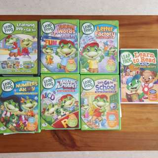 10x LeapFrog Math Counting Reading Phonics Educational DVDs