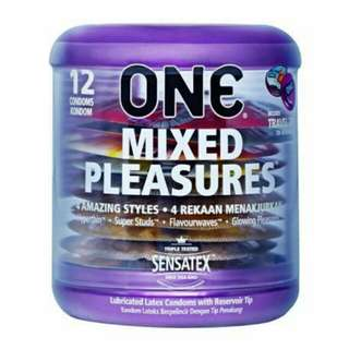 ONE Mixed Pleasure Condoms 12pc