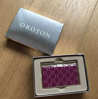New Oroton business card holder