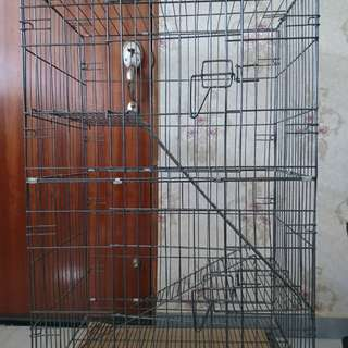 Cat cage 2 tier (2 door) * Reserves *