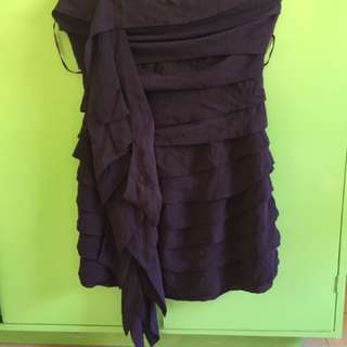 Chiffon violet dress
