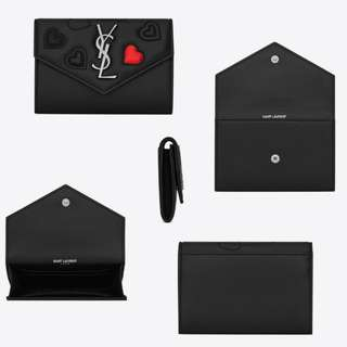 YSL Small Monogramme Envelope Clutch with Hearts