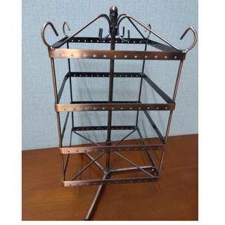 Metallic Earrings Stand
