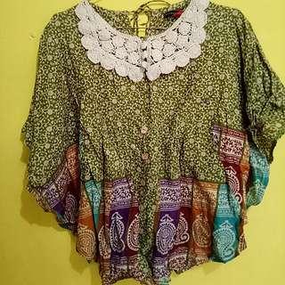 Blouse kalong batik