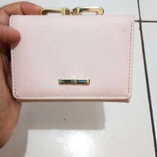 Dompet lipat pink miniso