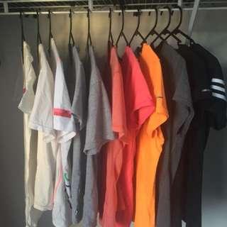 Nike and Adidas Shirts
