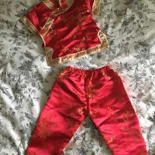 Chinese new year CNY outfit set for girl