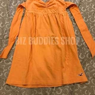 Orange tube dress