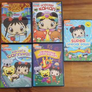 5x Nickelodeon Ni Hao Kai-Lan Educational Movie Games Activities DVDs