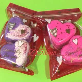 💯% Organic Heart Shaped Bath bombs🛁🚿 🛀✨