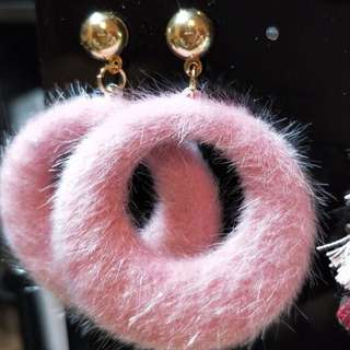 Round Fur earring