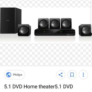 PHILIPS DVD WITH HOME THEATRE