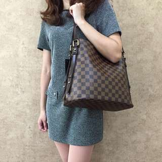 LOUIS VUITTON N41108 DAMIER CABAS RIVINGTON SHOULDER BAG