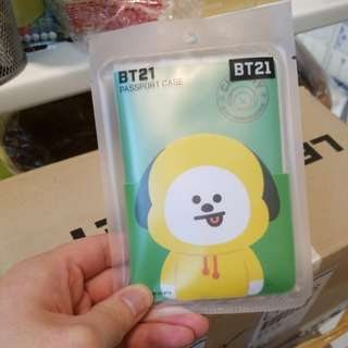 BT21 CHIMMY PASSPORT CASE