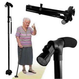 Dependable folding cane with built-in LED light