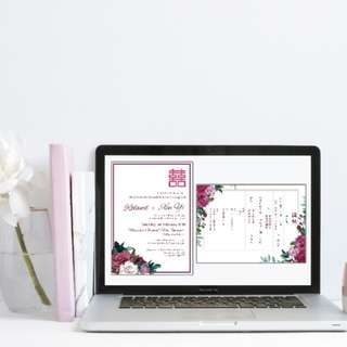 Wedding invites and stationery customisation