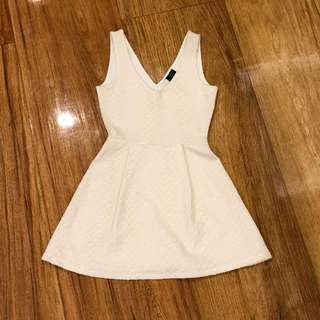 Zara off white dress