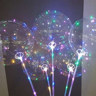 LED Bubble Balloons with stick CHEAPEST