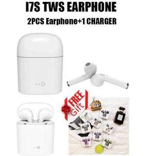 (送精美蘋果有線彩色耳機 !!!) I7S TWS 雙耳真無線藍芽耳機連充電盒 Wireless Bluetooth headphone V4.2 portable Mini headset hbq charger box